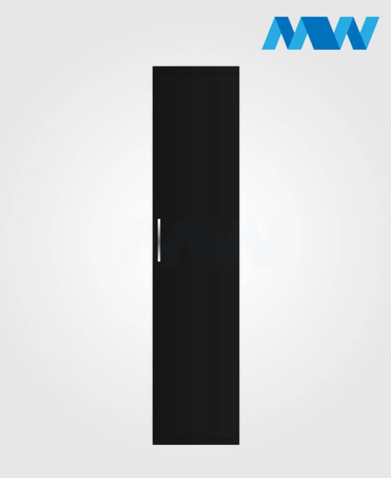 1 door wardrobe black
