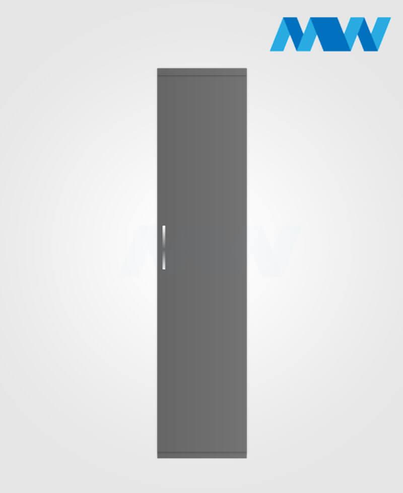 1 door plain wardrobe grey