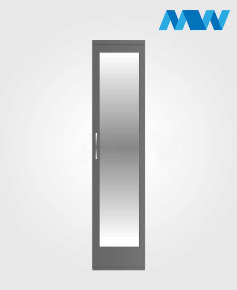 1 door plain wardrobe grey mirr