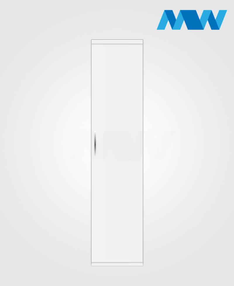 1 door plain wardrobe white