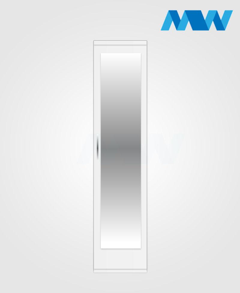 1 door plain wardrobe white mirr