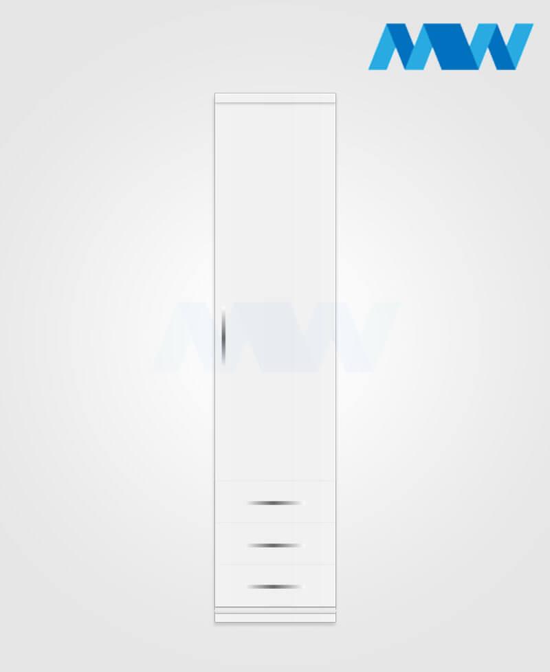 1 door wardrobe with 3 drawers white