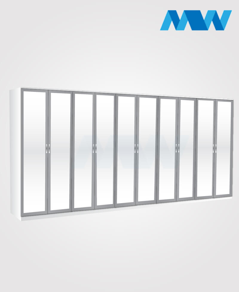 10 Door mirrored wardrobe grey and white