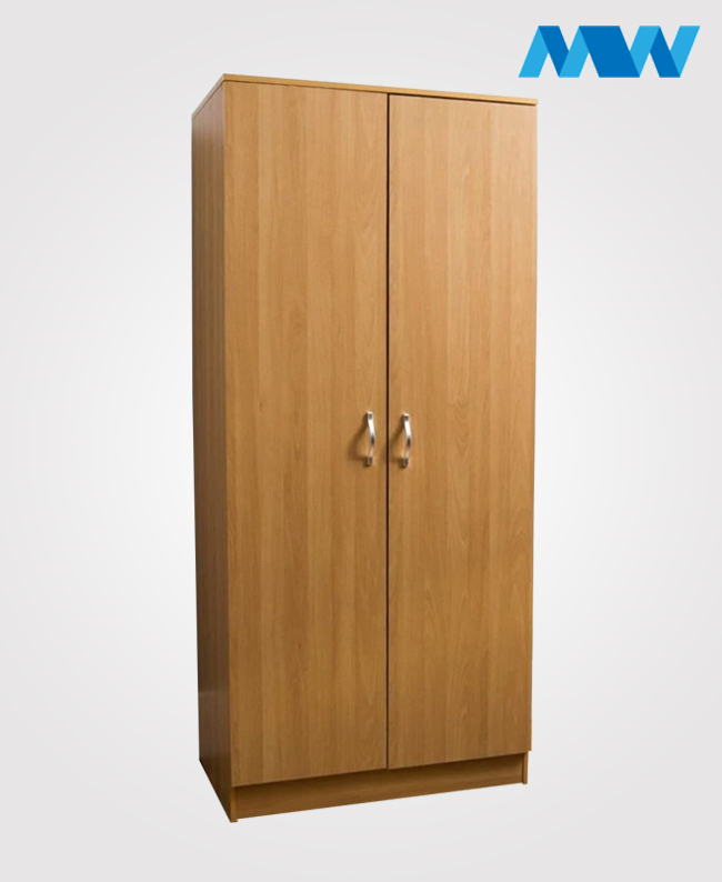 2 Door plain Wardrobe Oak