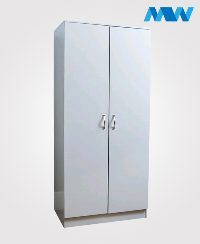 2 Door plain Wardrobe white
