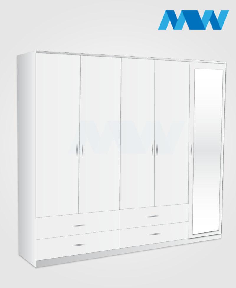 5D 1M 4D white