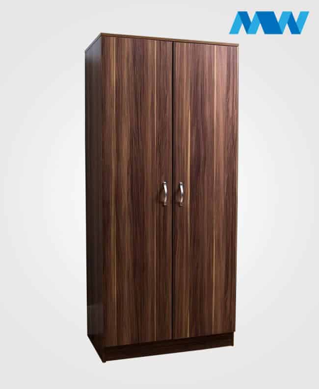 2 Door plain Wardrobe Walnut