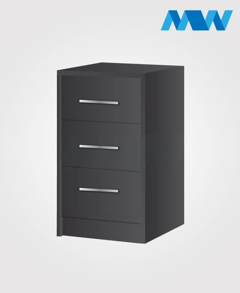 phoenix drawers 3 gloss BLACK