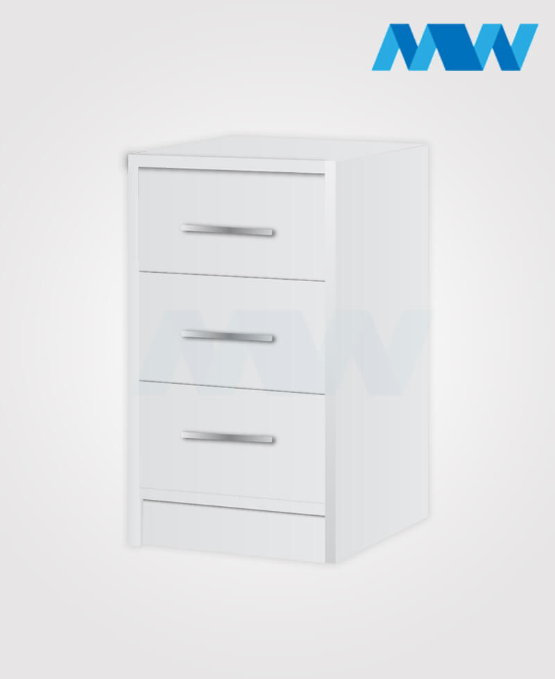 phoenix drawers 3 gloss WHITE E