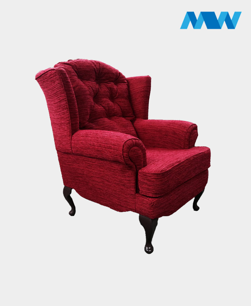 Helen sofa chair maroon