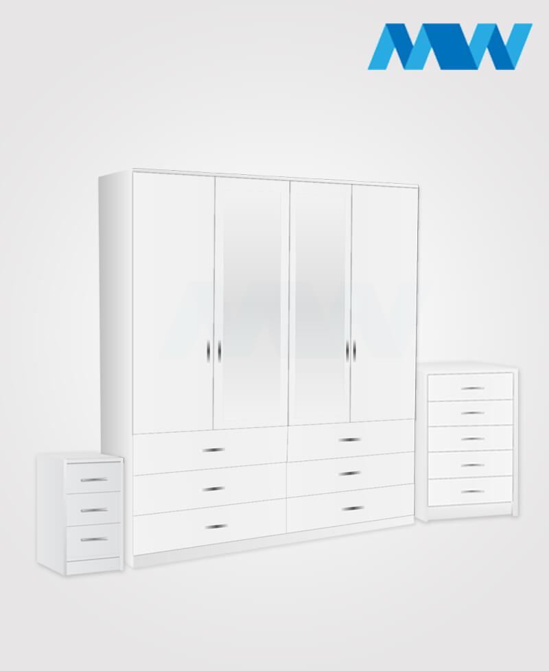 4d 2m 6d full set white