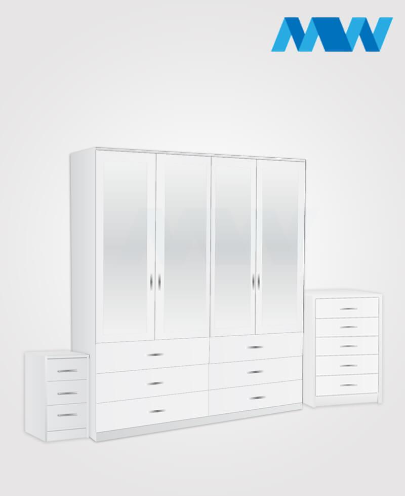 4d 4m 4d full set white