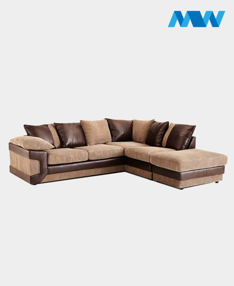 Horizon Corner Sofa brown and oak