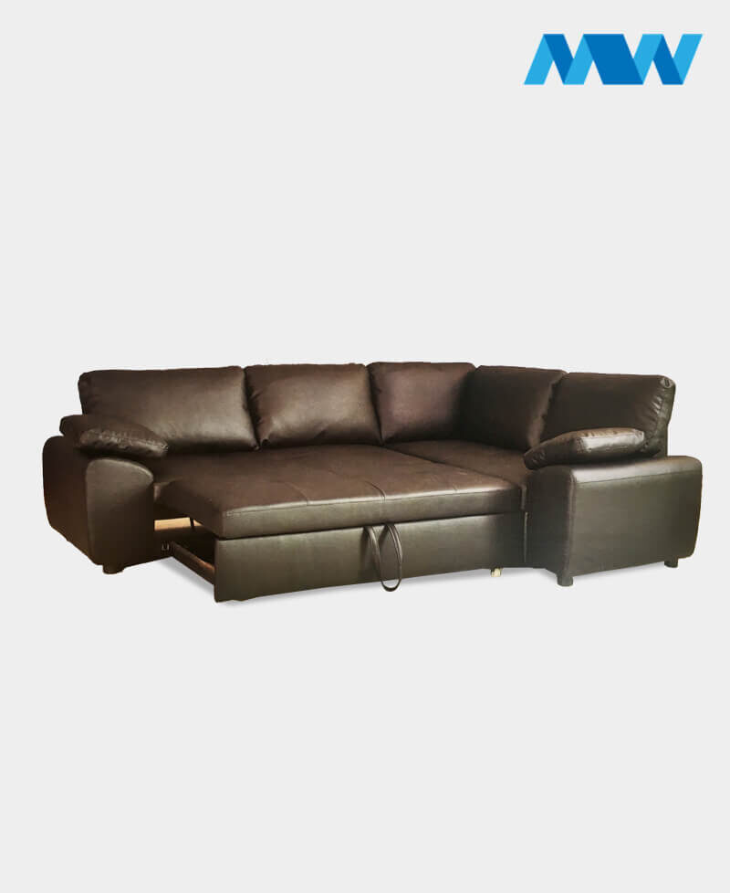 Enzo Corner Sofa Right corner brown