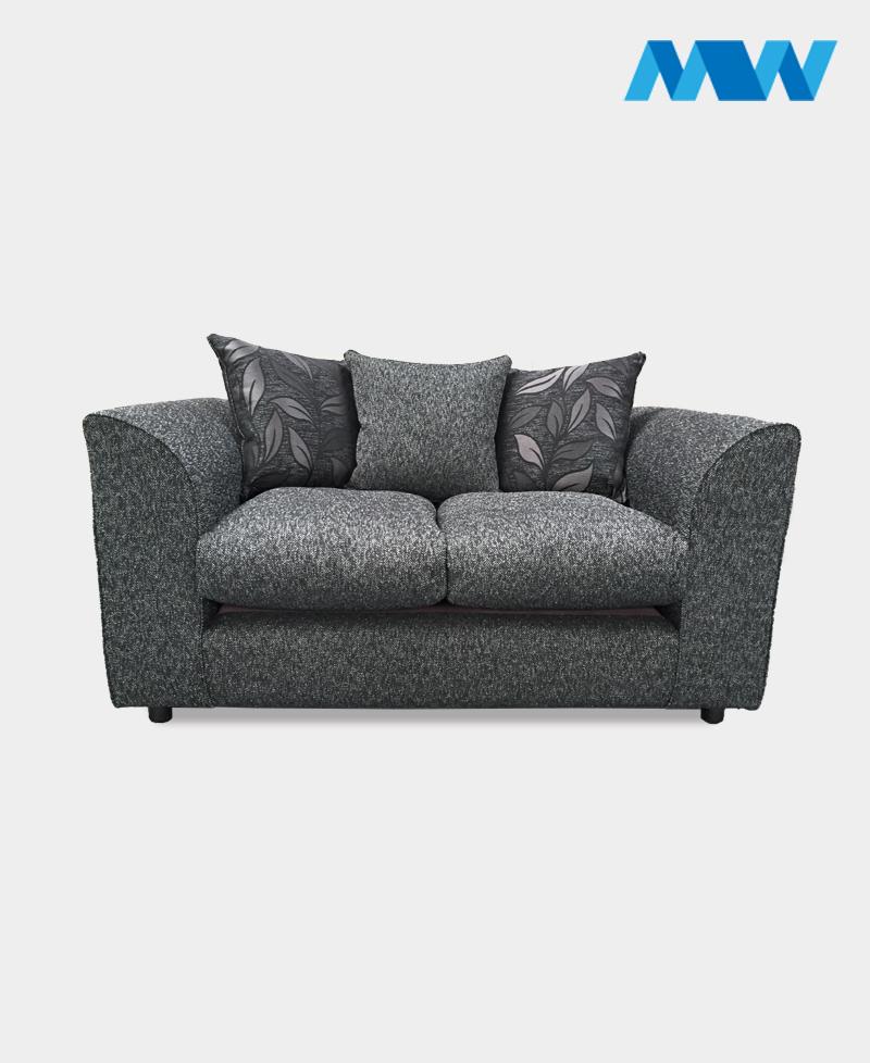 diana 2 seater fabric grey