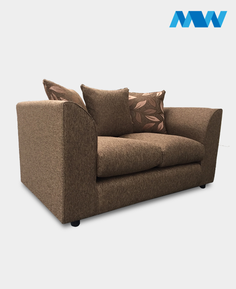diana 3 seater fabric brown