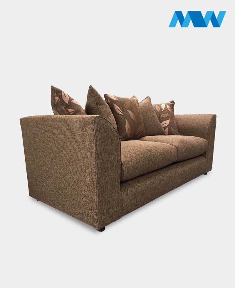 Daina sofa 3 seater brown