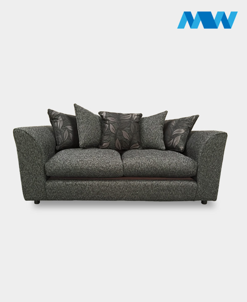 diana 3 seater sofa black