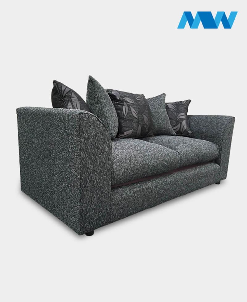Daina sofa 3 seater black side