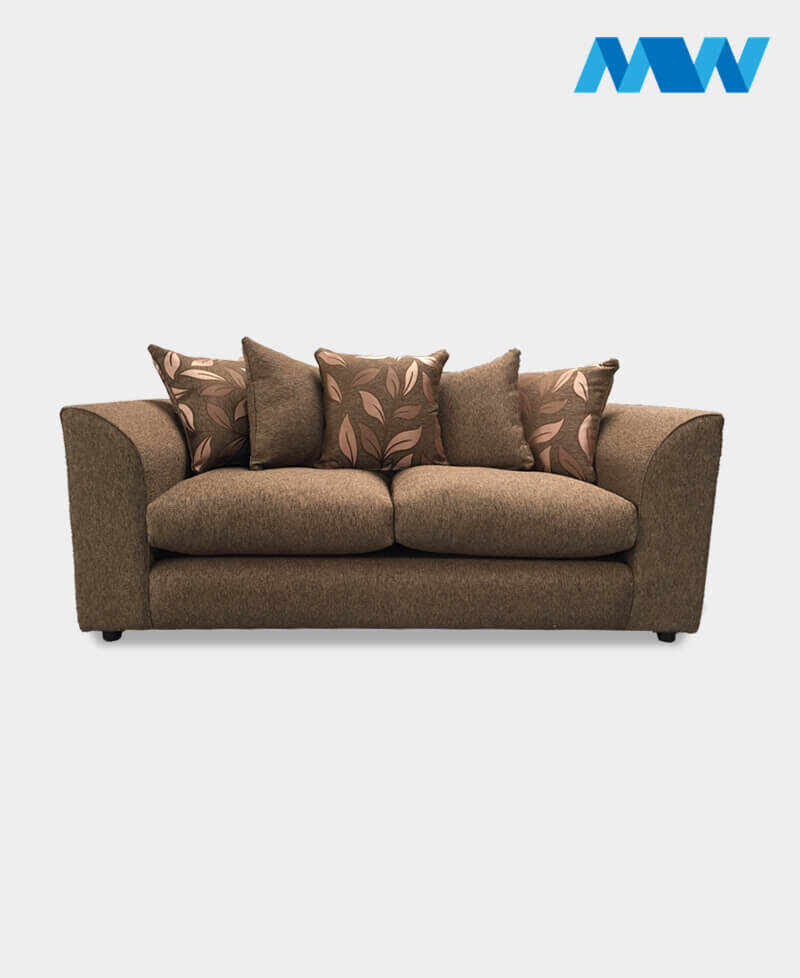 diana 3 seater sofa brown