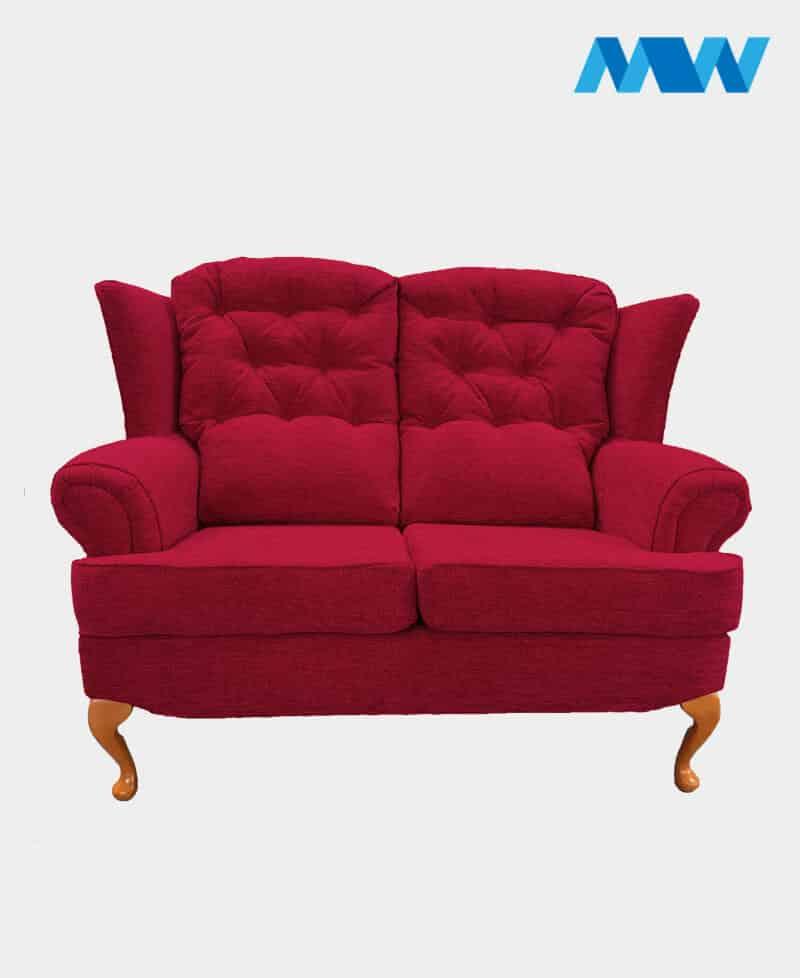Helen Sofa 2 Seater maroon