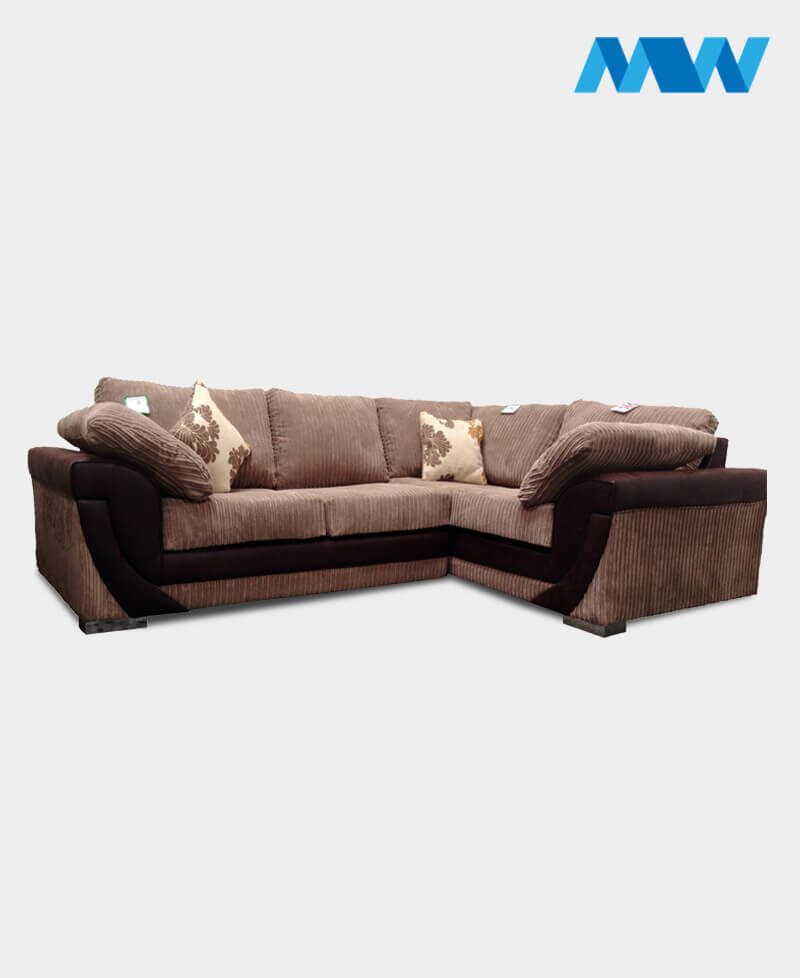 Lush Corner Right Sofa brown