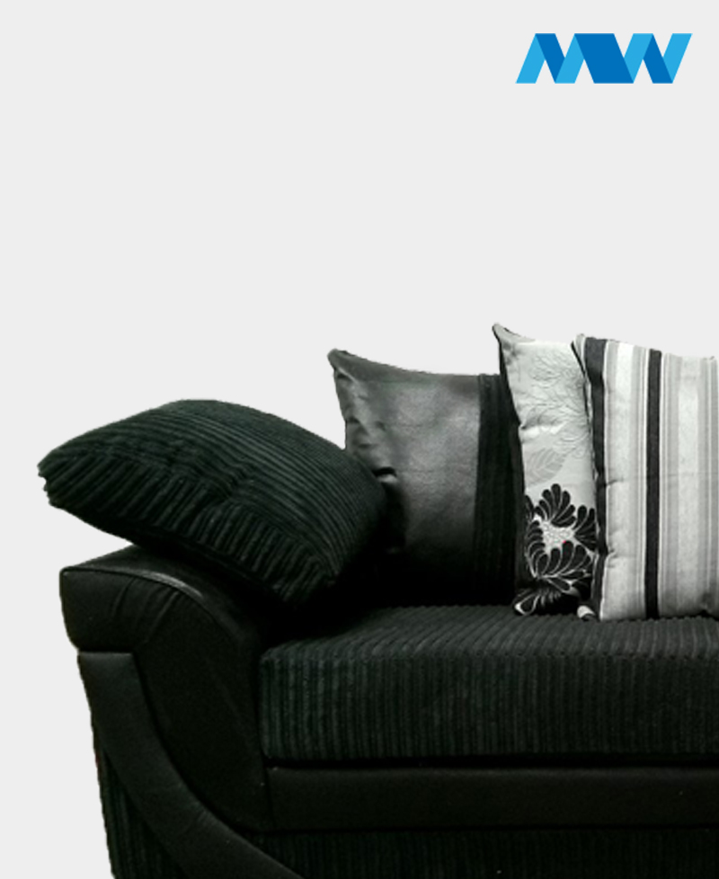 Lush 3 Seater Sofa black