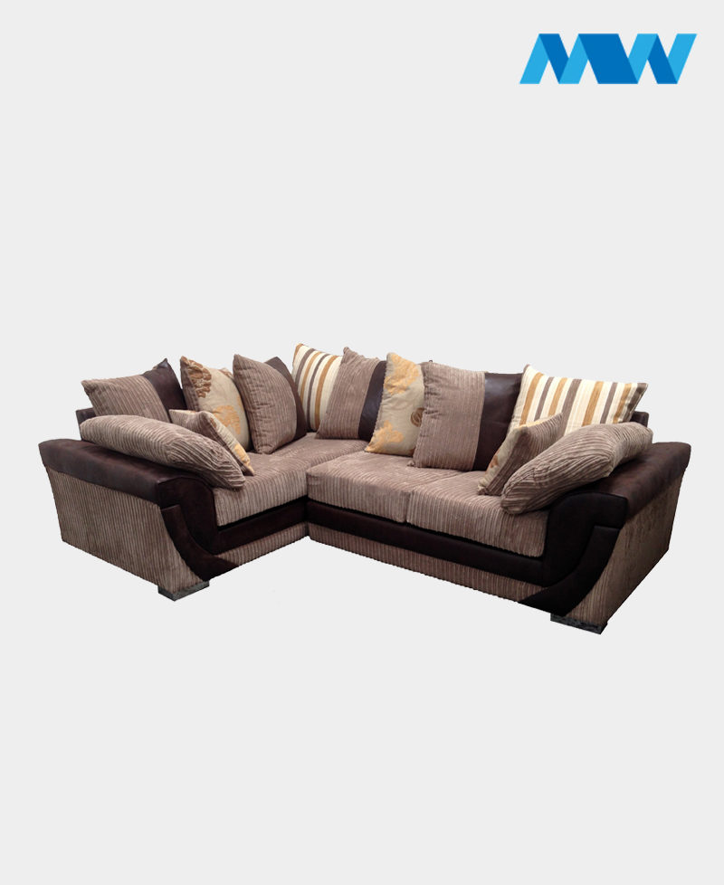Lush Corner Left Sofa brown