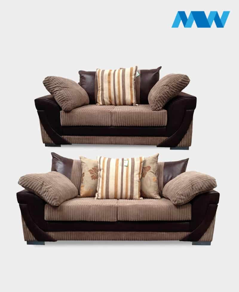Lush 2+3 fabric Sofa Set brown