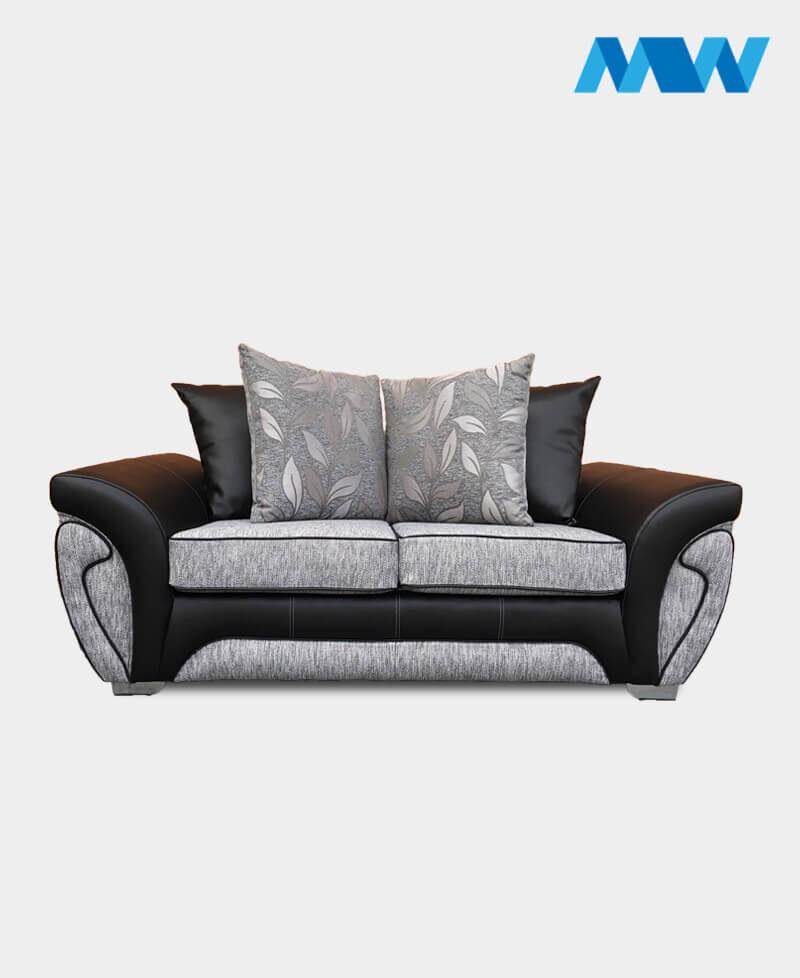 Matinee 2 Seater Sofa black and grey