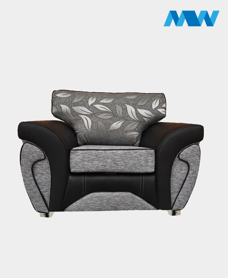 Matinee Sofa Chair Black and grey
