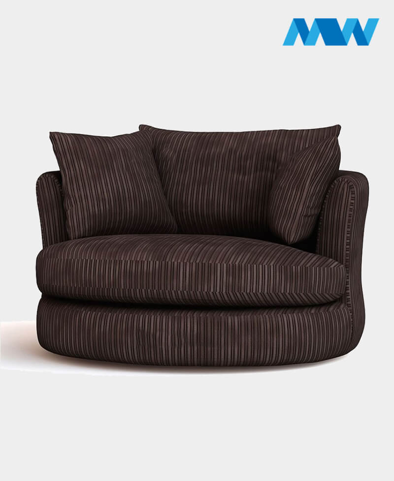 Riva Swivel Chair choclate