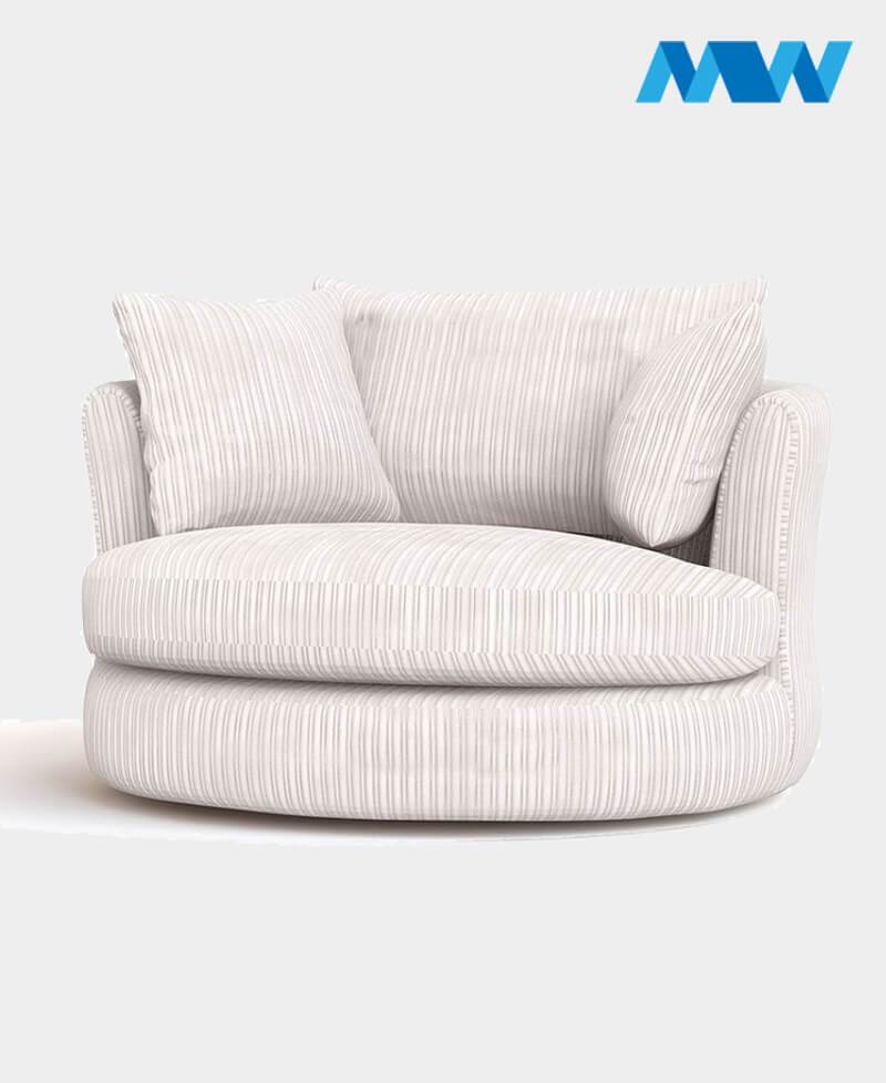 Riva Swivel Chair white