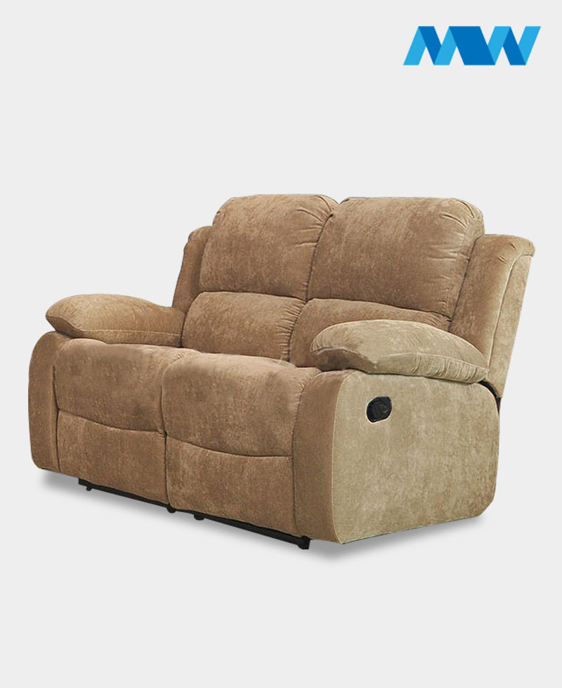 Valencia 2 Seater Leather Recliner Sofa cream