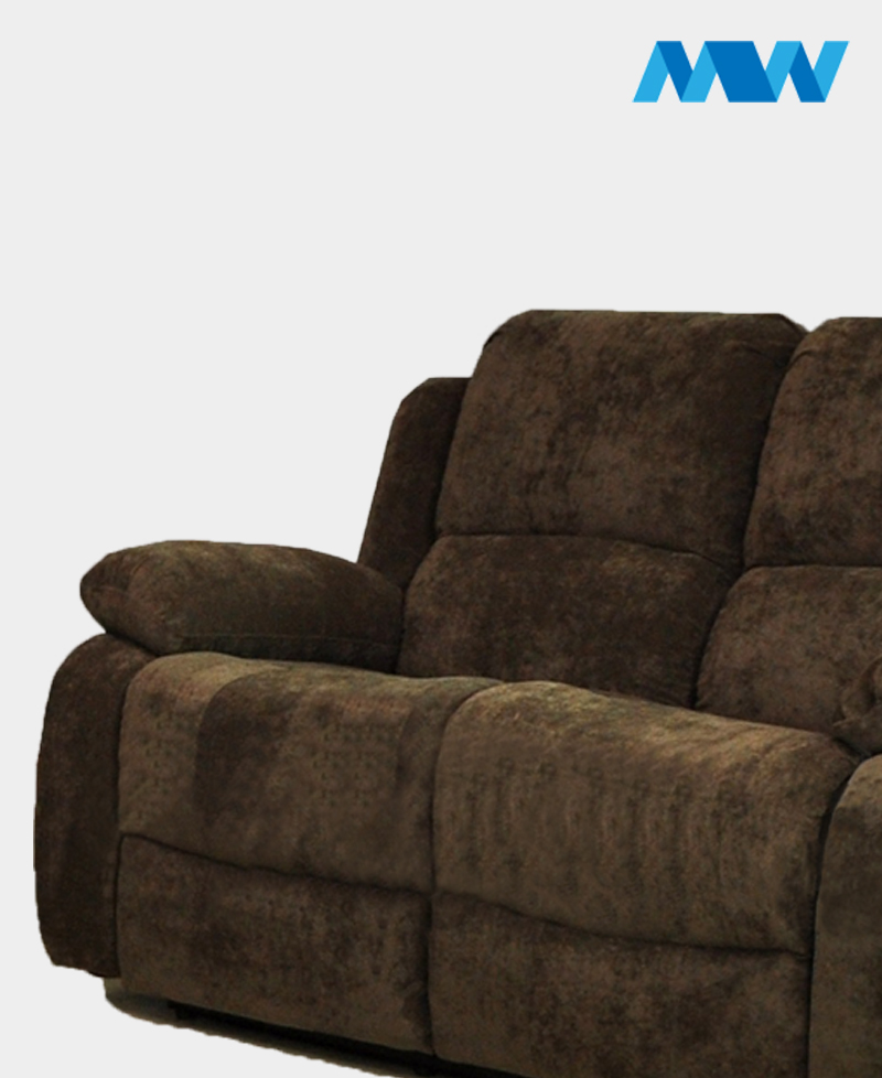 Valencia 2 Seater Leather Recliner Sofa brown