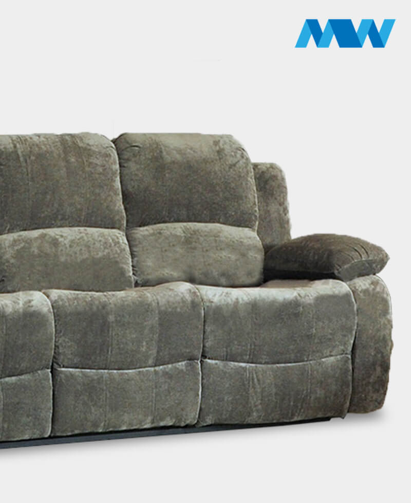 Valencia Recliner 3 seater Fabric Sofa charcoal zoom