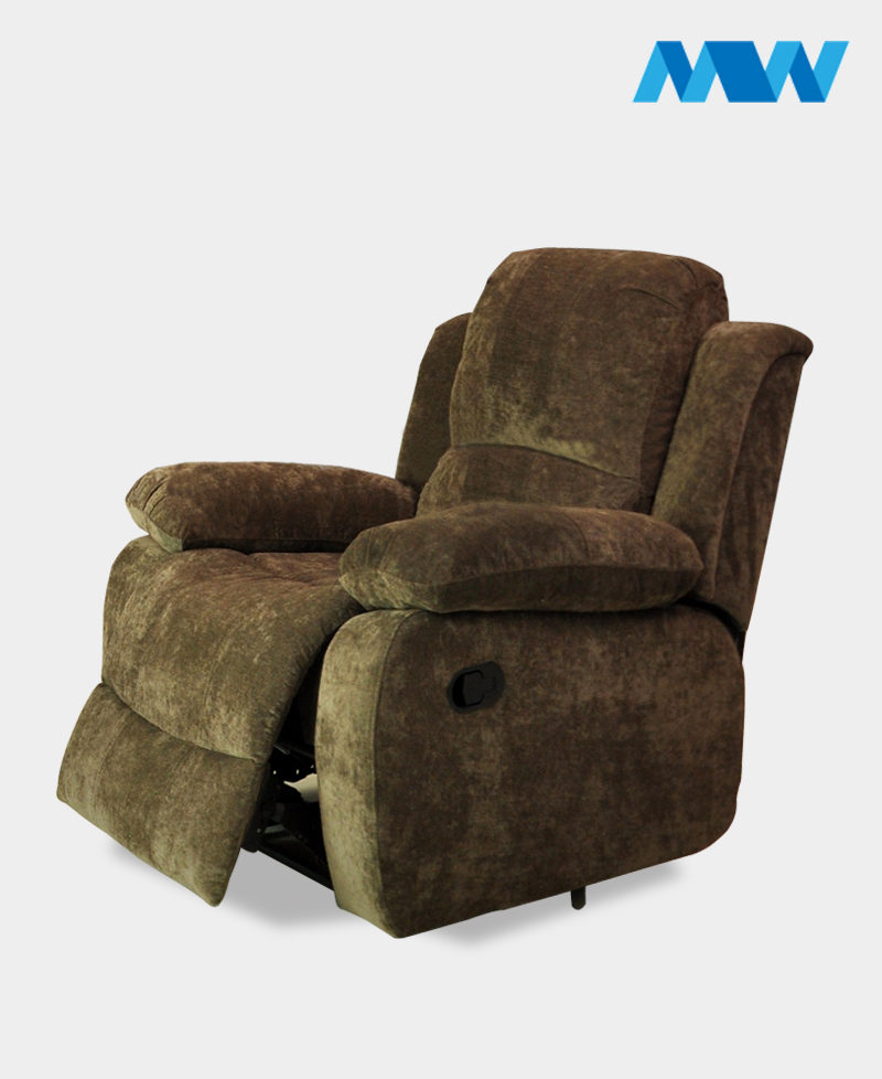 Valencia Fabric Recliner Chair Brown
