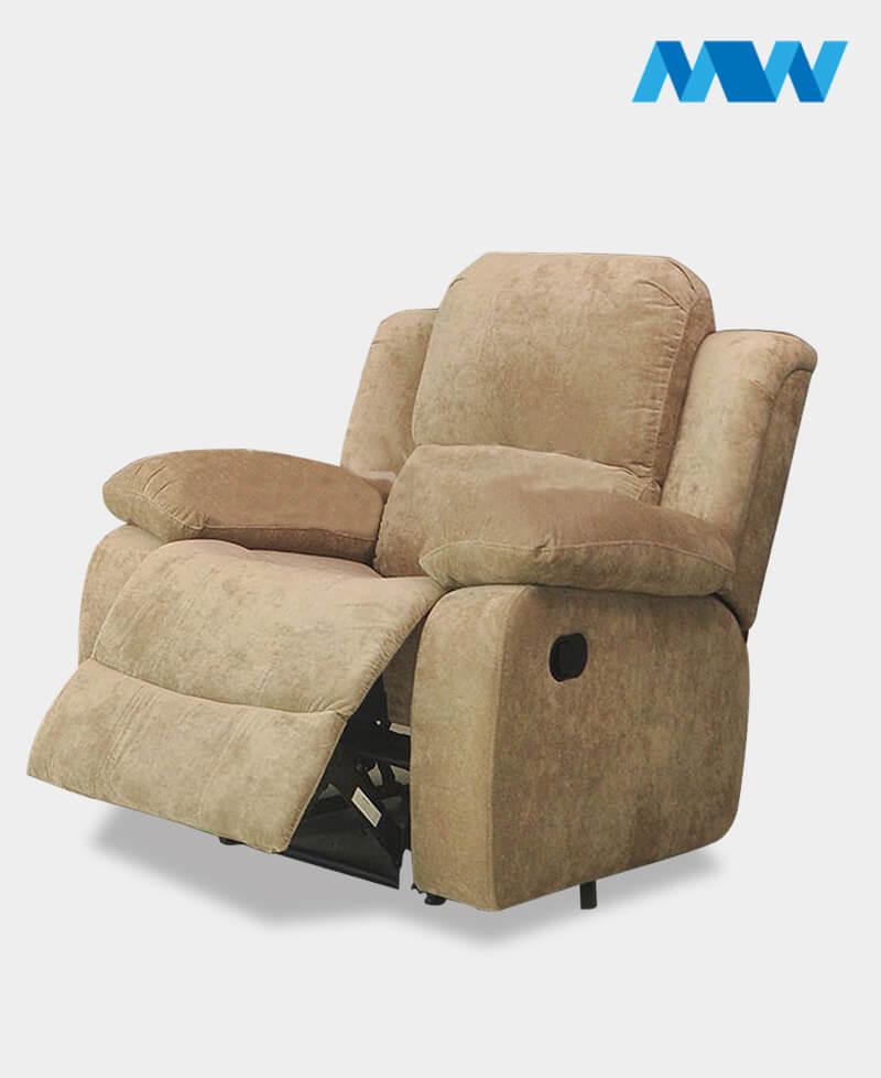 Valencia Fabric Recliner Sofa Chair cream