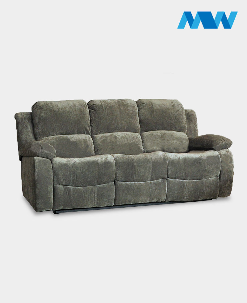 Valencia 3 Seater Leather Recliner Sofa charcoal