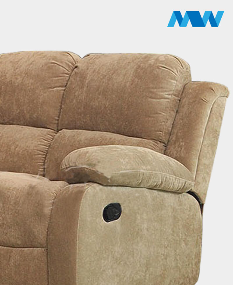 Valencia Recliner 2 seater Fabric Sofa brown zoom