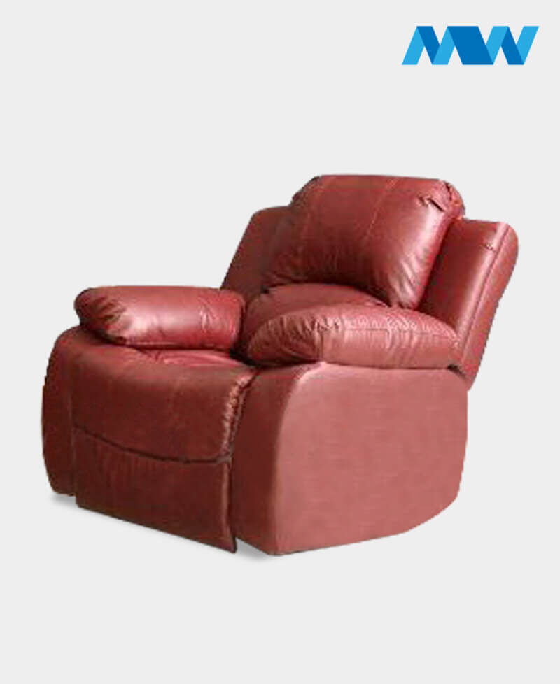 Valencia 2 Seater Leather Recliner Sofa Wine