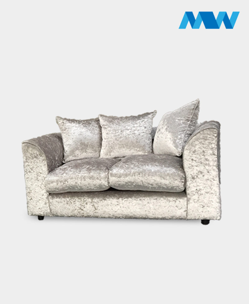 Crushed velvet 2 seater sofa champagne