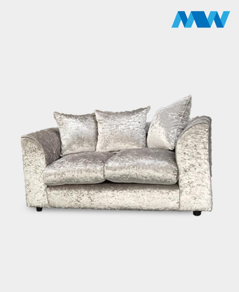 Crushed velvet 2 seater sofa champagne
