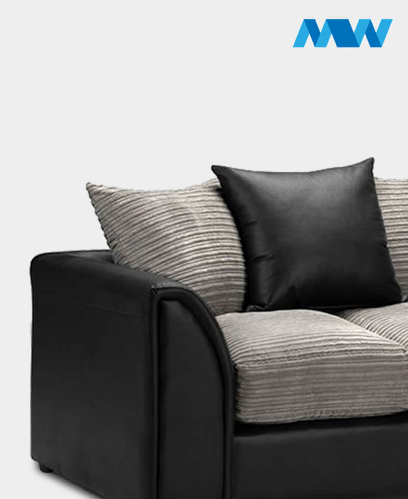 byron 2 seater black and grey cloe