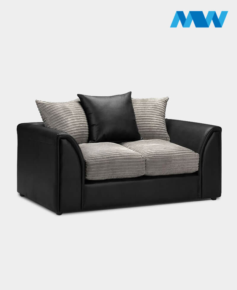 byron 2 seater black and oak