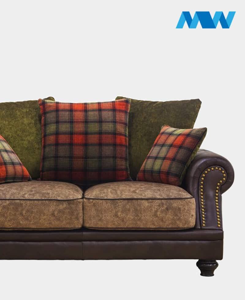 Charlotte 2 Seater Fabric Sofa brown