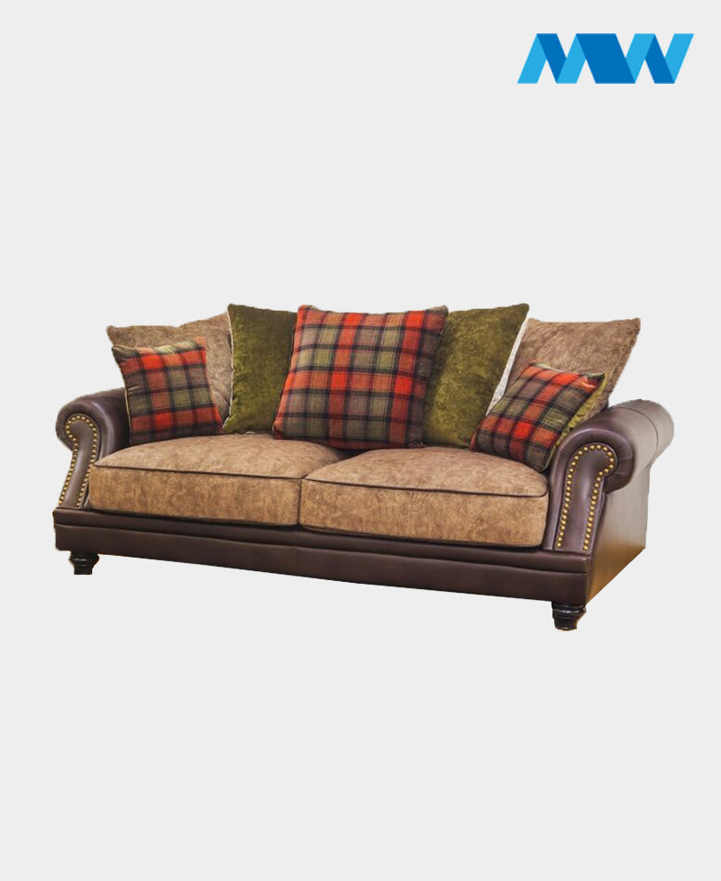 Charlotte 3 Seater Fabric Sofa Brown