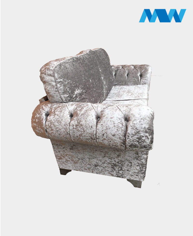 chesterfield shimmer 2 seater silver