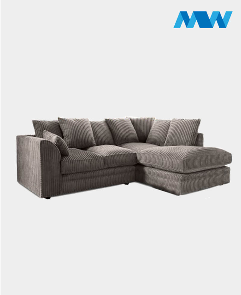 Byron Fabric Corner Sofa left corner grey