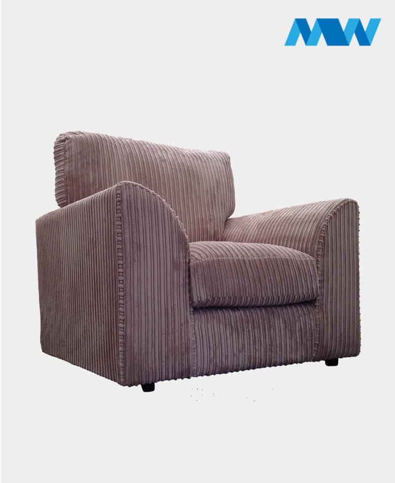 Byron Fabric Sofa Chair Iced velvet purple